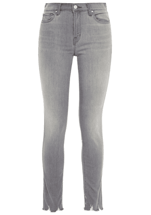 J Brand Distressed Mid-rise Skinny Jeans Woman Gray Size 30