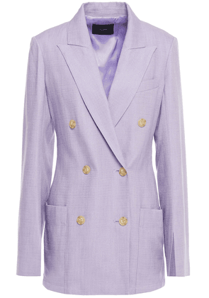 Joseph Jean Double-breasted Shantung Blazer Woman Lavender Size 42