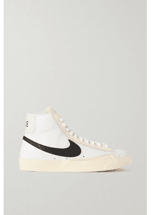 Nike - Blazer Mid '77 Barcode Leather High-top Sneakers - White