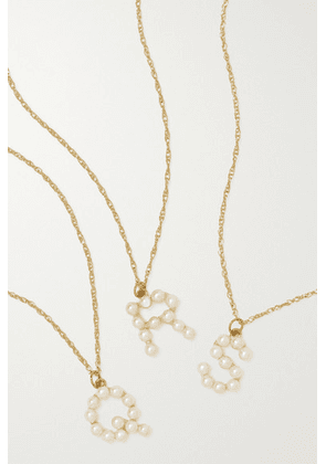 STONE AND STRAND - Initial 10-karat Gold Pearl Necklace
