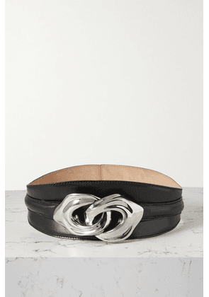 Alexander McQueen - Embellished Leather Waist Belt - Black