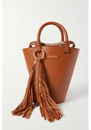 See By Chloé - Cecilia Tasseled Leather Tote - Tan