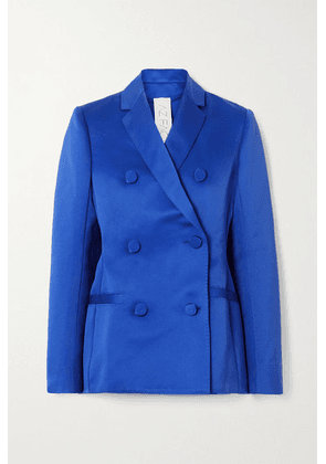 AZ Factory - Switchwear Double-breasted Recycled Duchesse-satin Blazer - Blue