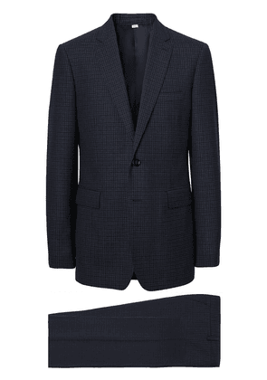 Burberry check-print wool suit - Blue