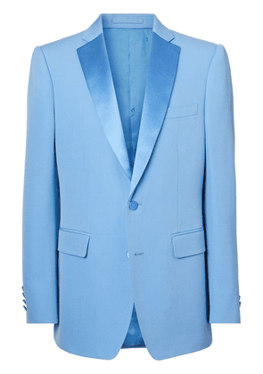 Burberry English-fit grain de poudre tuxedo jacket - Blue