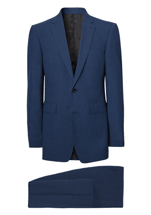 Burberry checked single-breasted suit - Blue