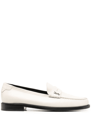 Saint Laurent Le Loafer Monogram flat loafers - Neutrals