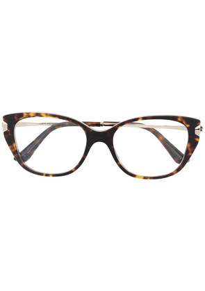 Bvlgari tortoiseshell cat-eye glasses - Brown