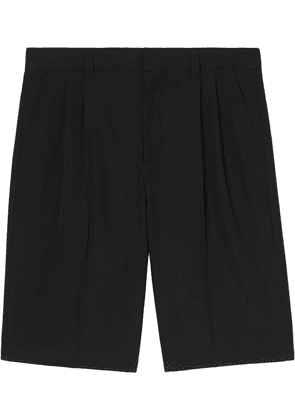 Burberry logo-patch tailored shorts - Black