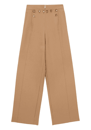 Burberry high-waisted button-detail trousers - Neutrals
