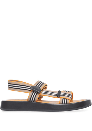Burberry Icon Stripe flat sandals - Orange