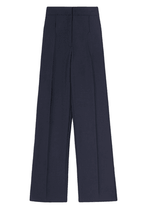 Burberry side-stripe wide-leg tailored trousers - Blue