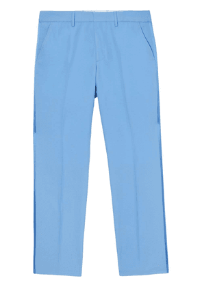 Burberry contrast-trim trousers - Blue