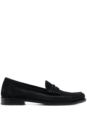 Saint Laurent suede penny loafers - Black
