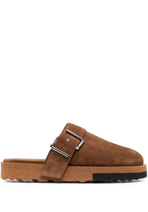 Off-White Comfort backless slippers - Brown