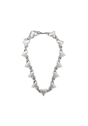 Saint Laurent heart link necklace - Silver