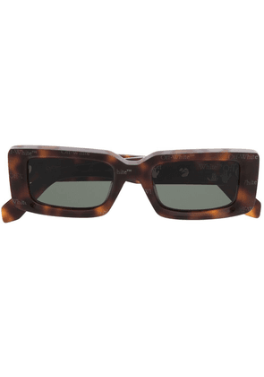 Off-White Arthur rectangular sunglasses - Brown
