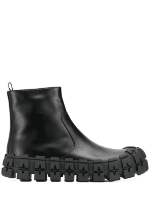 Prada tyre sole ankle boots - Black