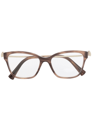 Bvlgari square-frame tortoise-shell glasses - Neutrals