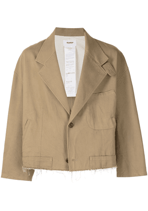 Doublet single-breasted cropped blazer - Brown