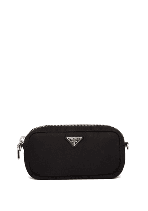 Prada padded logo plaque clutch - Black