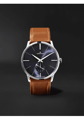 JUNGHANS - Meister Handaufzug 38mm Stainless Steel and Leather Watch, Ref. No. 027/3504.00 - Men - Blue