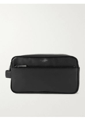 SERAPIAN - Faux Leather Wash Bag - Men - Black