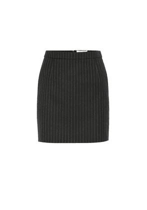Pinstriped wool skirt