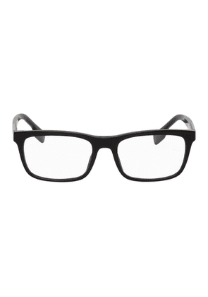Burberry Black Acetate Rectangular Glasses