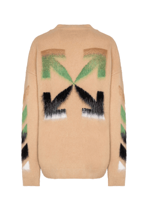 Logo wool and mohair-blend sweater
