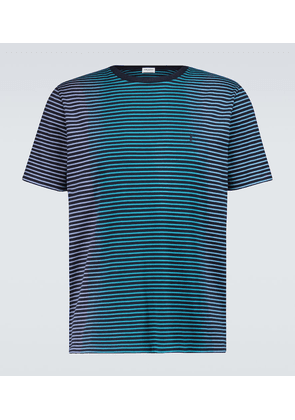 Tie-dyed striped cotton T-shirt
