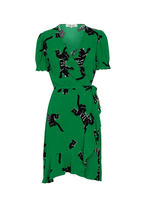 Emilia printed crêpe wrap dress