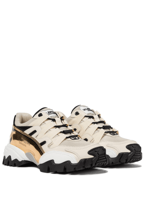 Valentino Garavani Climbers leather-trimmed sneakers