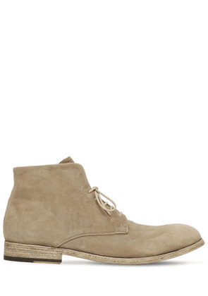 25mm Washed Suede Lace-up Boots