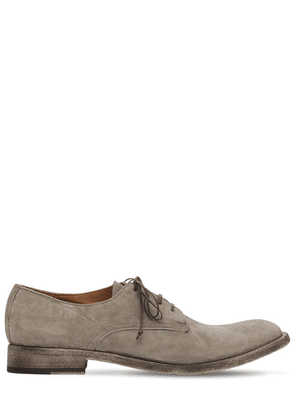 25mm Washed Suede Lace-up Derby Shoes