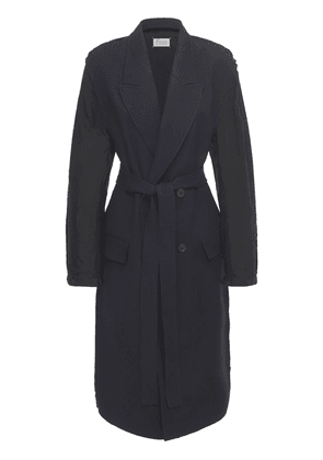 Wool Gabardine Double Breast Trench Coat