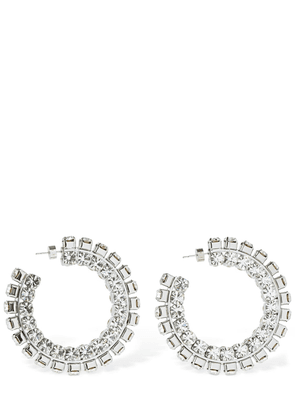Stacked Crystal Hoop Earrings