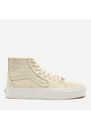 Vans Women's Sk8-Hi Tapered Leather Trainers - Marshmallow/Snow White - UK 8