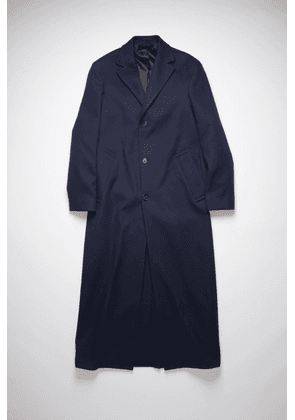 Acne Studios FN-MN-OUTW000602 Navy Tailored cotton coat