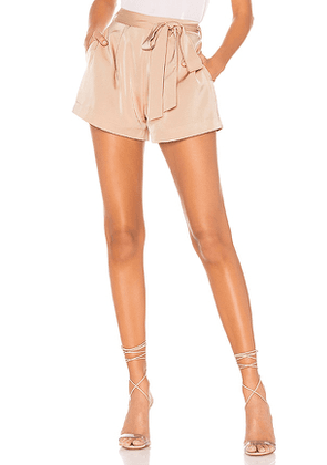 L'Academie The Londyn Short in Cream. Size S, M.
