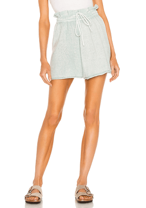Free People Summertime Blues Knit Short in Blue. Size S, M, XS.