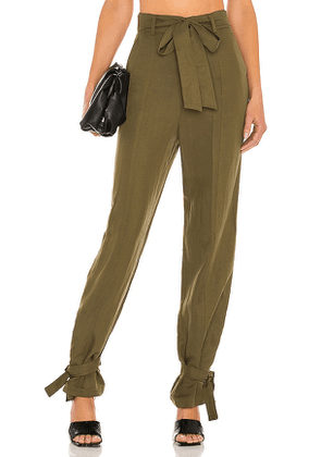 Lovers + Friends Denny Pant in Olive. Size XXS, XS, S, M, XL.
