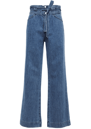 J Brand Belted High-rise Wide-leg Jeans Woman Mid denim Size 28