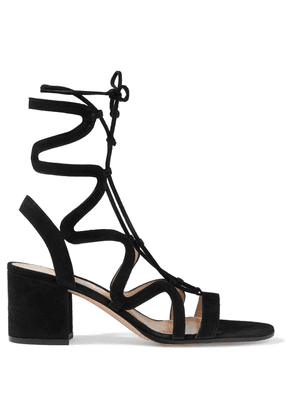 Gianvito Rossi Artemis 60 Lace-up Suede Sandals Woman Black Size 36.5