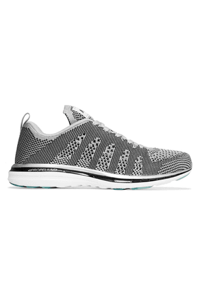 Apl® Athletic Propulsion Labs Techloom Pro Mesh Sneakers Woman Silver Size 6