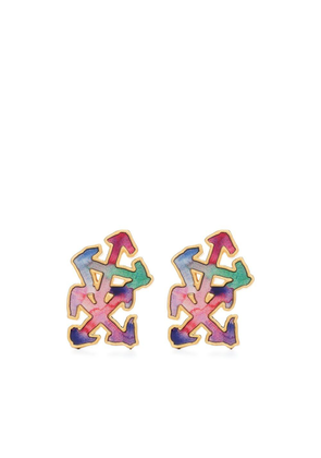 Off-White melted arrow earrings - Gold