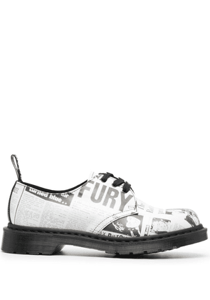 Dr. Martens graphic-print oxford shoes - White