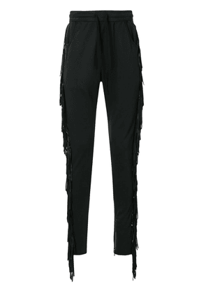 Alchemist side fringe track pants - Black