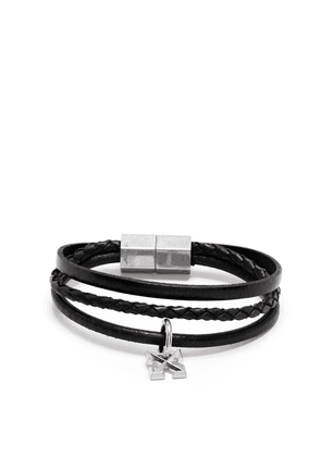 Off-White hexnut charm braided bracelet - Black