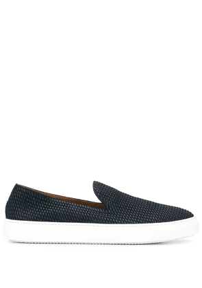 Fratelli Rossetti woven leather loafers - Blue